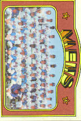 1972 Topps Baseball Cards      362     New York Mets TC